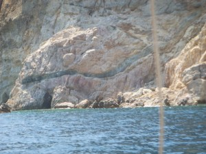 Rocky shores of Patmos